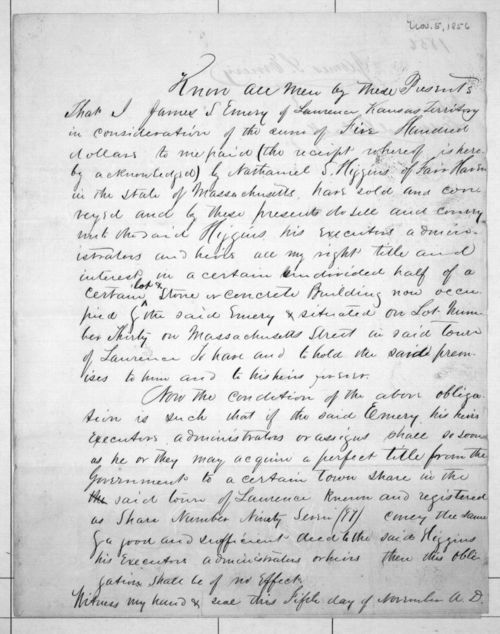 Deed to Nathaniel S. Higgins - Page