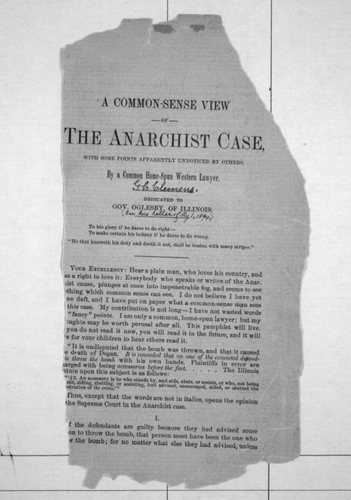 A common-sense view of the anarchist case, with some points apparently unnoticed by others - Page