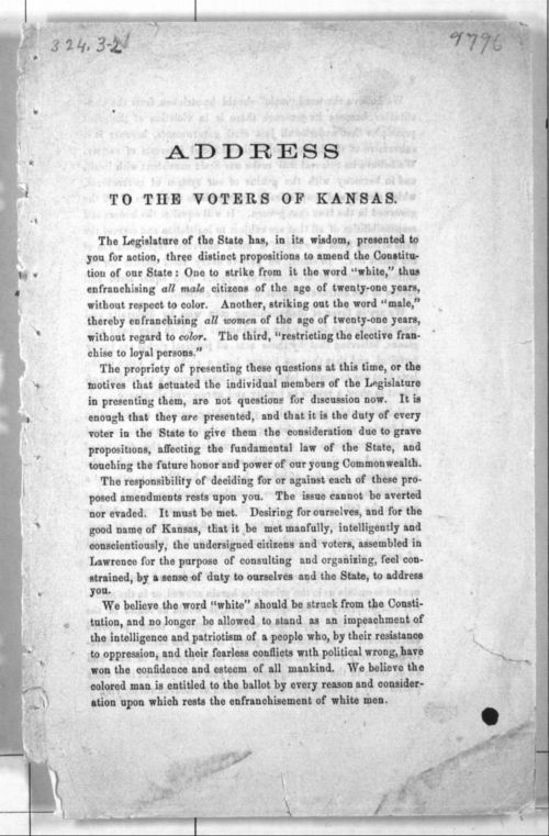 Address to the Voters of Kansas - Page