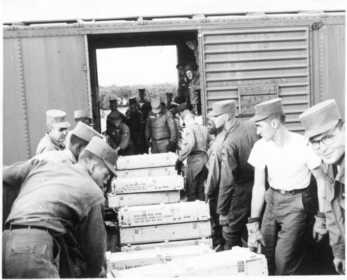 Atchison, Topeka & Santa Fe Railway Company box cars, Fort Hood, Texas - Page