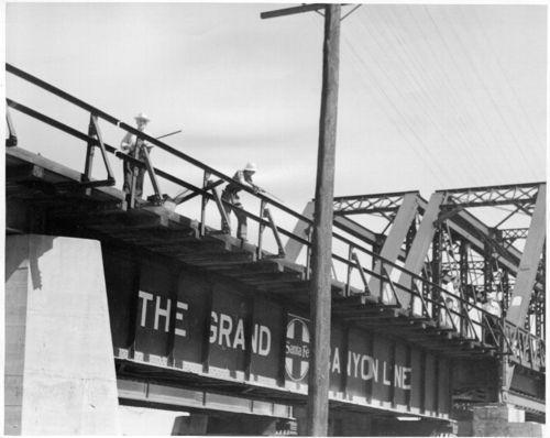Atchison, Topeka & Santa Fe Railway Company's railroad bridge - Page