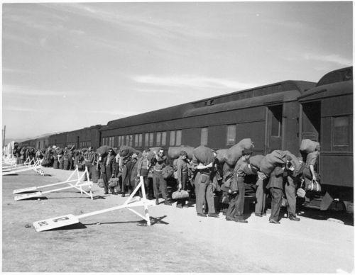 Atchison, Topeka & Santa Fe Railway Company train, Camp Haan - Page