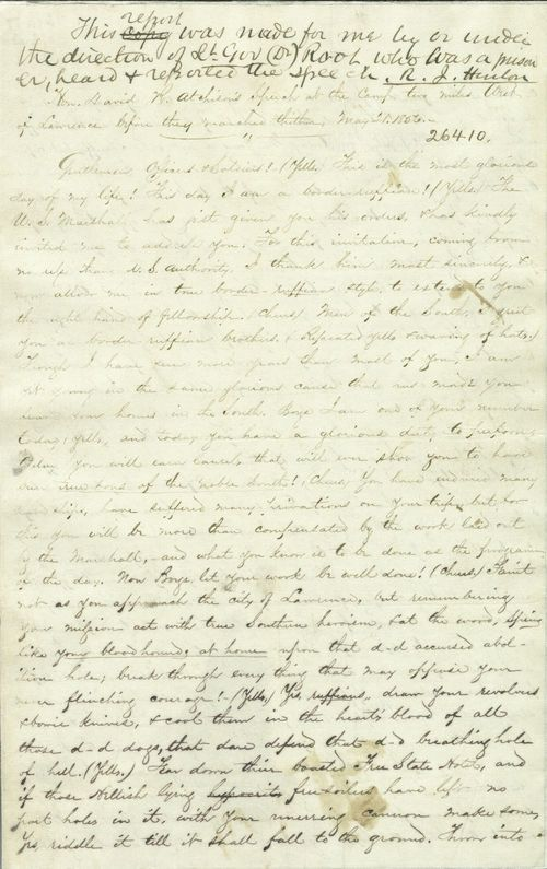 Copy of David R. Atchison speech to pro-slavery forces - Page