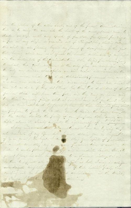 Copy of David R. Atchison speech to proslavery forces - Page