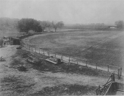 Old race track and fairgrounds at Bismarck Grove, Kansas - Page