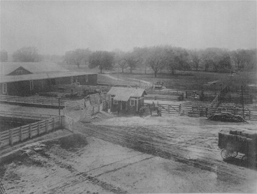 Barns and corrals of the old fairgrounds at Bismarck Grove, Kansas - Page