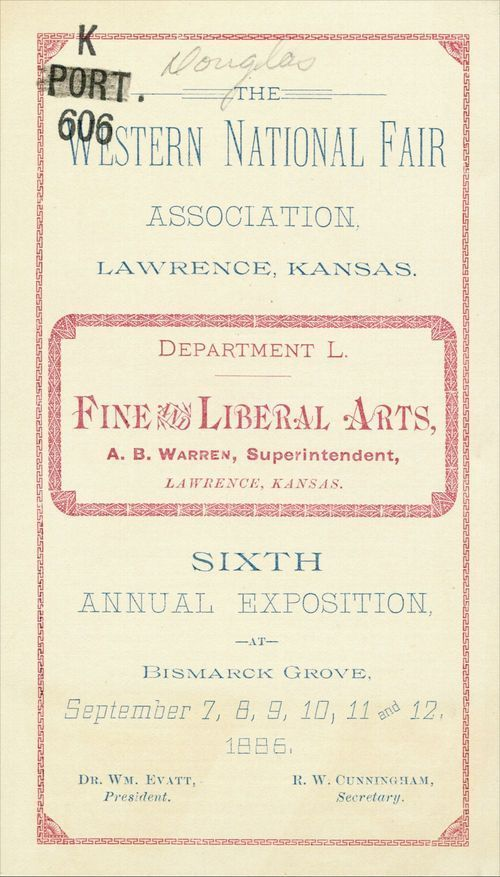 The Western National Fair Association, Lawrence, Kansas, premium list - Page