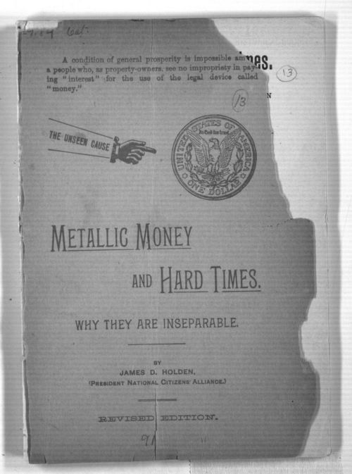 Metallic Money and Hard Times:  Why they are inseparable - Page