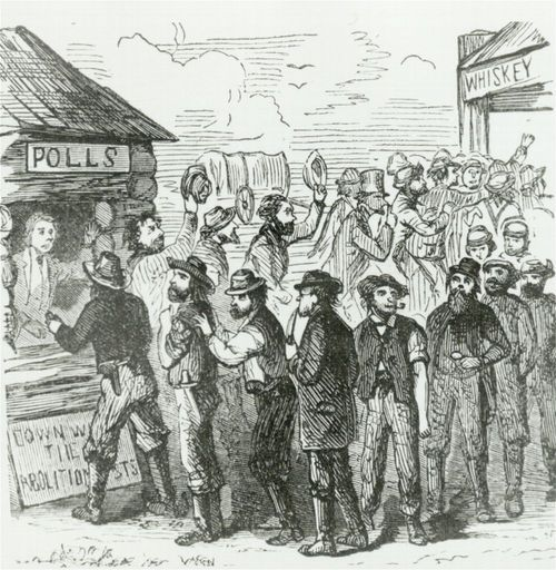 Voting at Kickapoo, Kansas Territory - Page