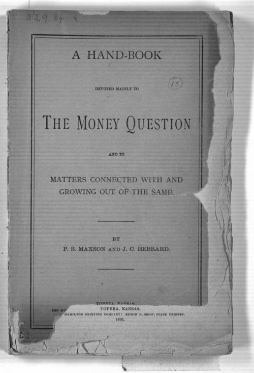 A hand-book devoted mainly to the money question - Page