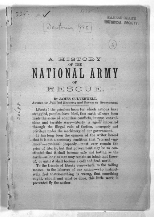 A history of the National Army of Rescue - Page
