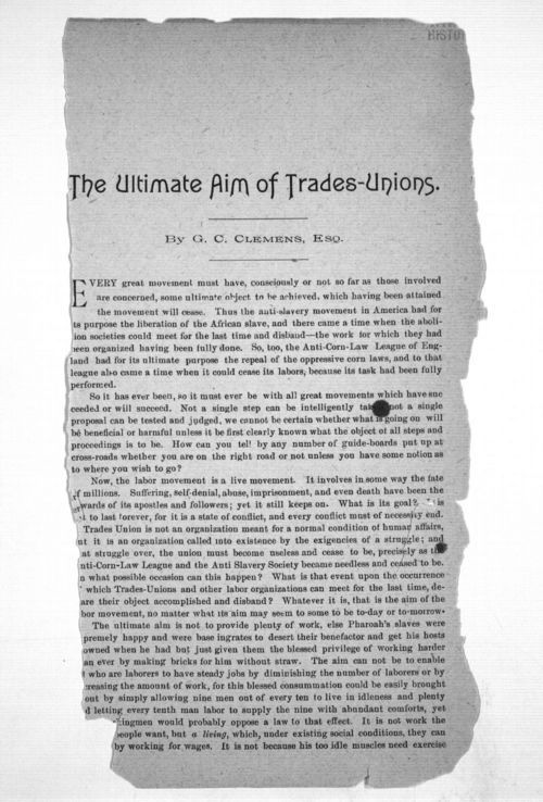 The ultimate aim of trades-unions - Page