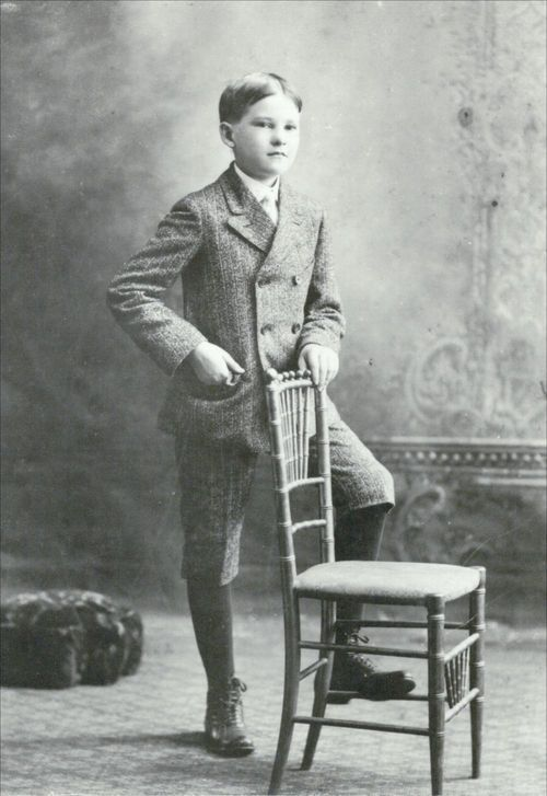 Harry Walter Colmery as a young boy. - Page