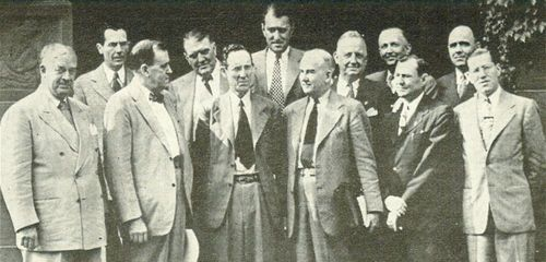 "Several members of the ""first team"" that helped create and pass the first GI Bill - Page"