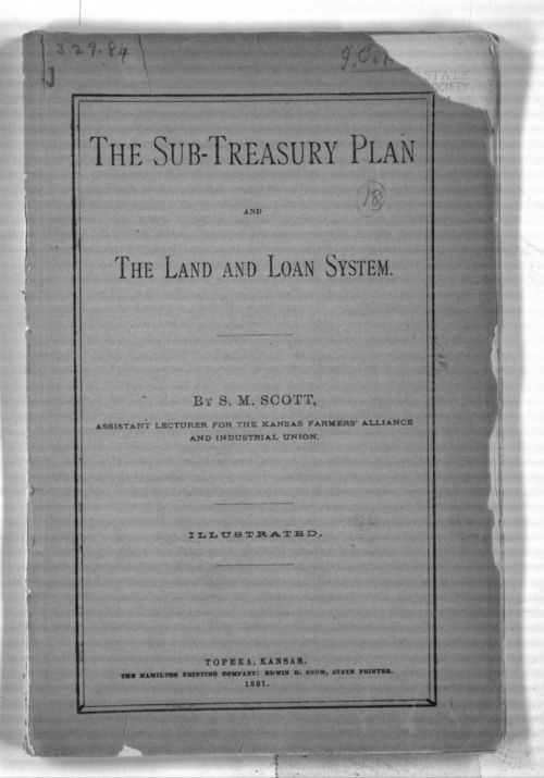 The sub-treasury plan and the land and loan system - Page