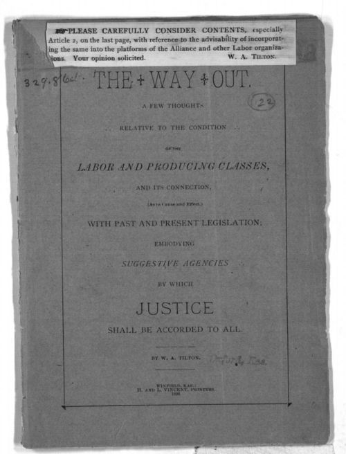 The way out:  a few thoughts relative to the conditions of the labor and producing classes - Page
