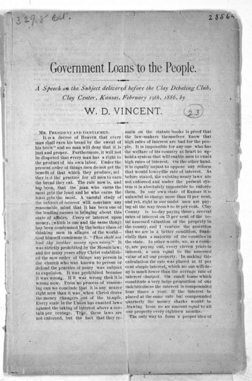 Government Loans to the People - Page