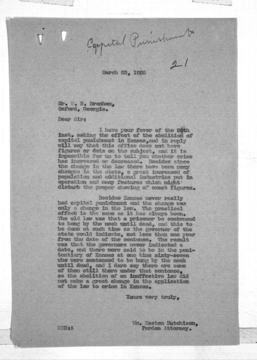 William Easton Hutchison to W. R. Branham - Page