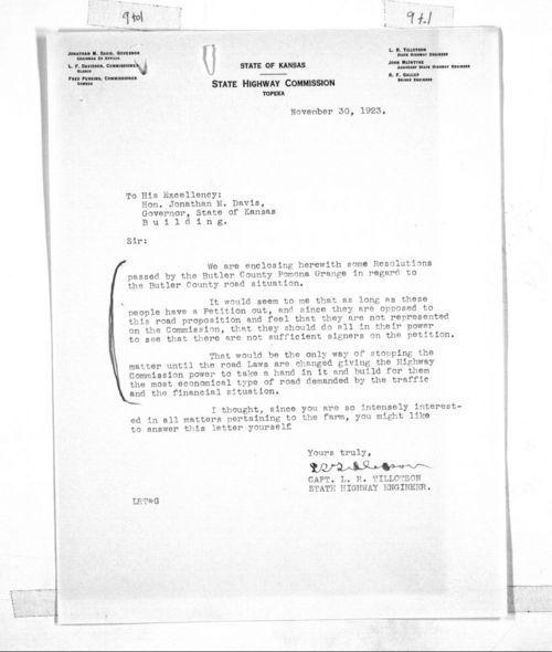 L.R. Tillotson to Governor Jonathan Mcmillan Davis - Page