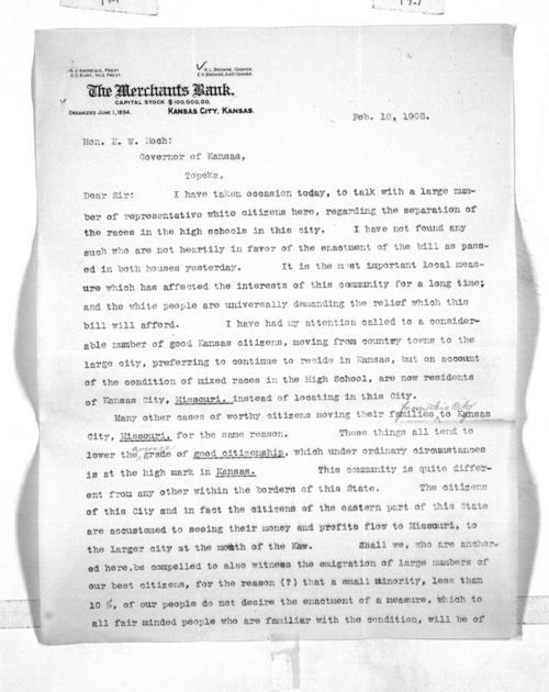 K. L. Browne to Governor Edward Hoch - Page