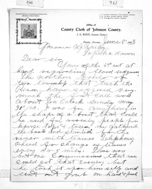 J. G. Rudy to Governor Joshua Bailey - Page