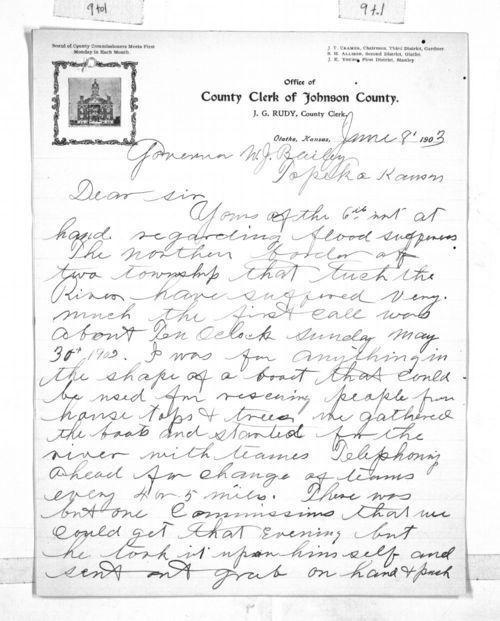 J. G. Rudy to Governor Joshua Bailey - Page