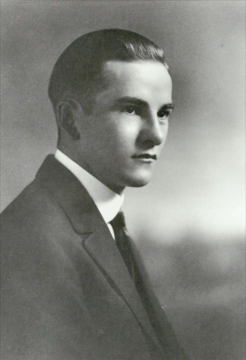 Harry Walter Colmery, as a young man. - Page