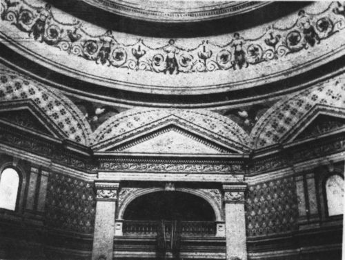 Fresco work and cove panel decorations near the top of the Statehouse dome. - Page