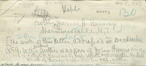 James Hanway to Richard Josiah Hinton - Page