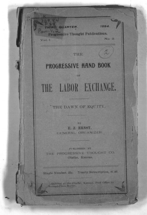 The Progressive Hand Book of the Labor Exchange.  The Dawn of Equity - Page
