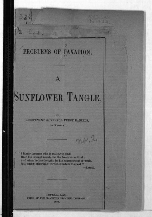Problems of taxation. A sunflower tangle - Page