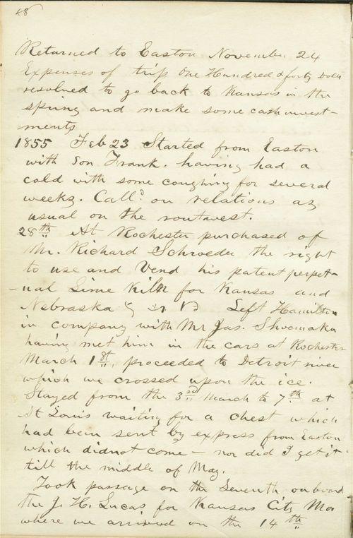 Diary, Franklin L. Crane - Page