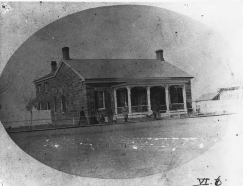 Commanding officer's quarters at Fort Larned, March, 1875. - Page