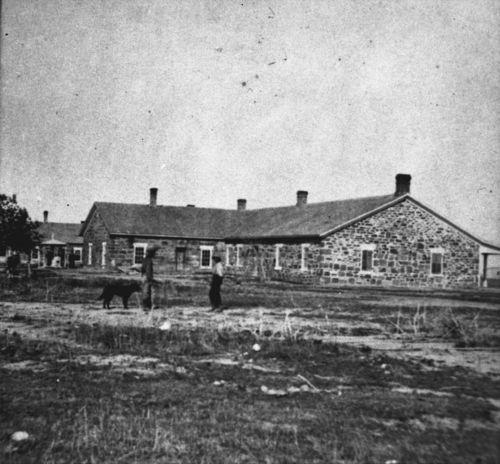 Enlisted men's barracks and kitchen, Fort Larned, Kansas - Page