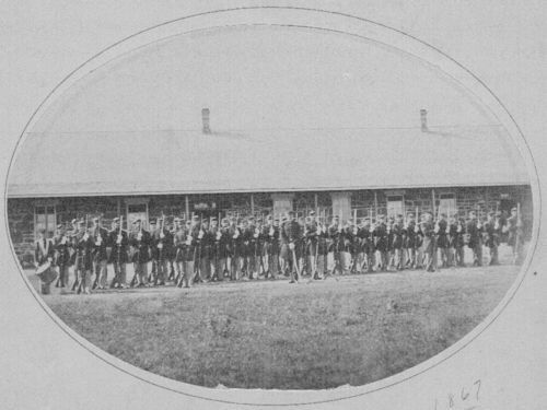 Third Infantry, Company C, at Fort Larned, Kansas - Page