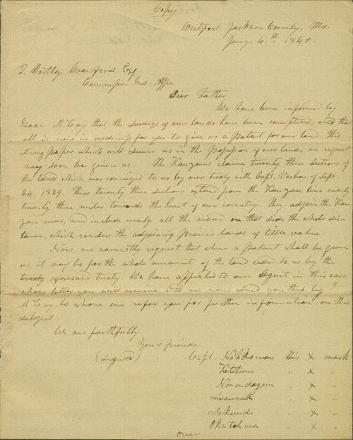 Delaware Indians to T. Hartley Crawford - Page