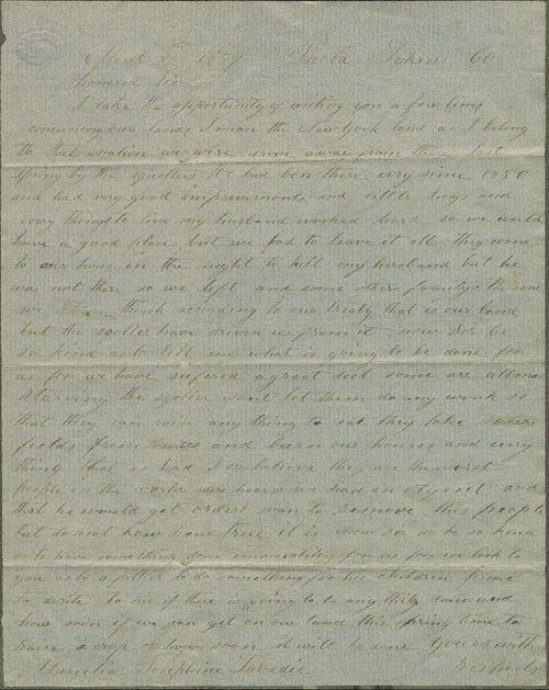 Amelia Josephine Labedia to James W. Denver - Page