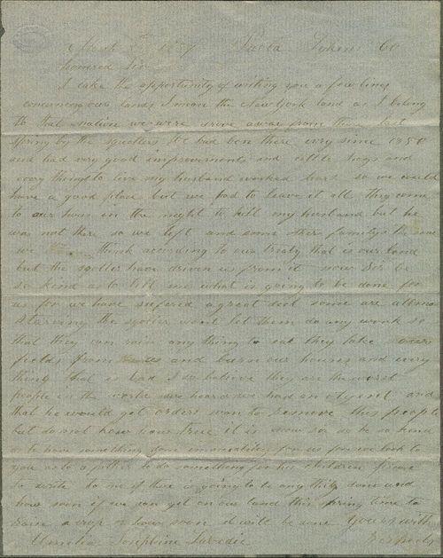 Amelia Josephine Labedia to James W. Denver - Page