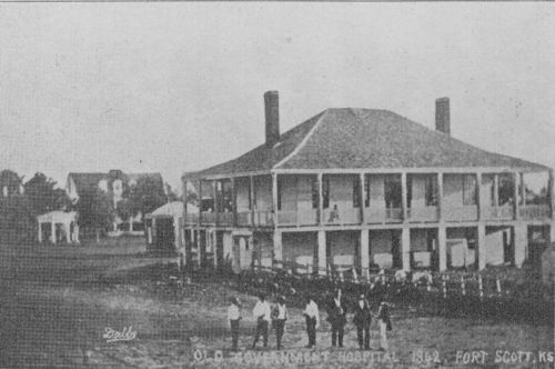 The old government hospital at Fort Scott