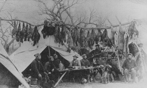 Hunting scene, Cherokee Strip - Page