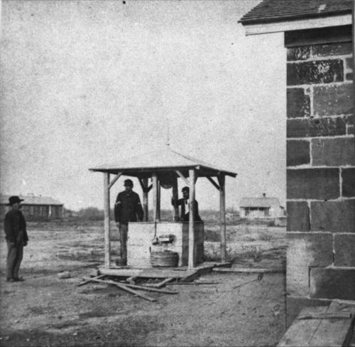Fort Larned well house. - Page