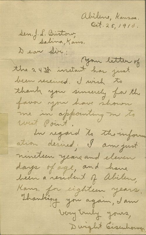 Dwight David Eisenhower to Joseph Little Bristow, United States Senator - Page