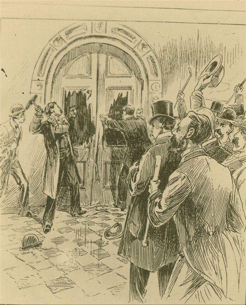 Speaker Douglass breaking in the door - Page