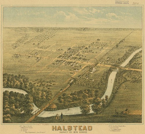 Lithograph of Halstead, 1878.