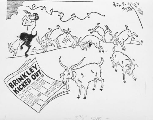 Cartoon showing dancing goats - Page