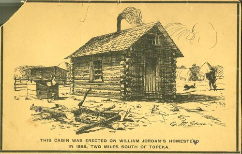 Log cabin erected in 1856 in Shawnee County, Kansas - Page