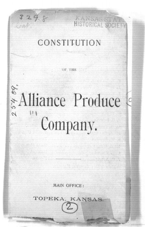 Constitution of the Alliance Produce Co. - Page