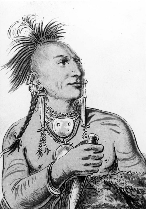 "Kansa Indian, Meach-o-shin-gaw ""Little White Bear"" - Page"