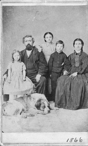 Hugh A. Cook with his wife and children - Page