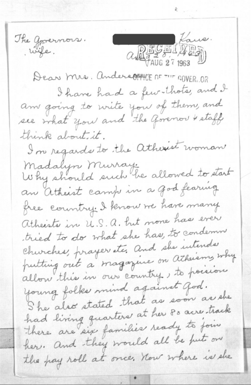 Anonymous resident to the governor's wife - Page